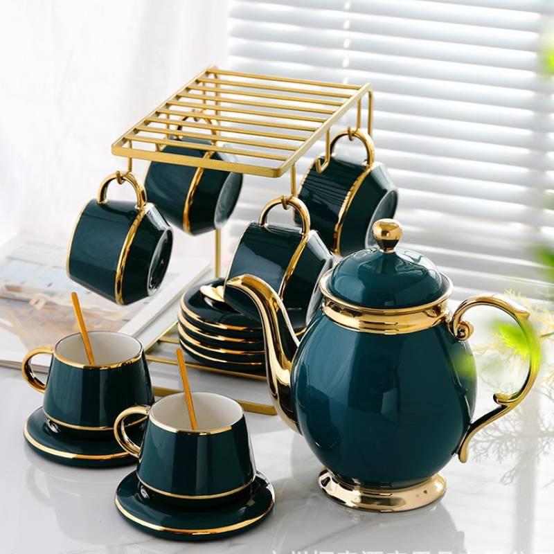 Bộ ấm trà sứ cao cấp