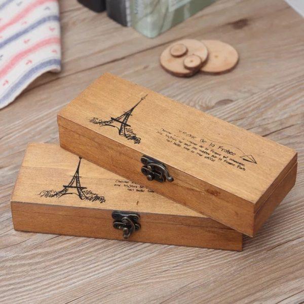 hộp đựng bút bằng gỗ