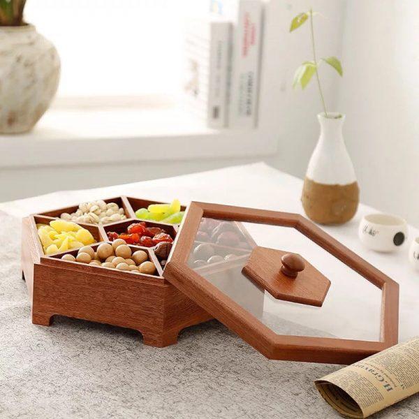 hộp đựng mứt quà tết bằng gỗ