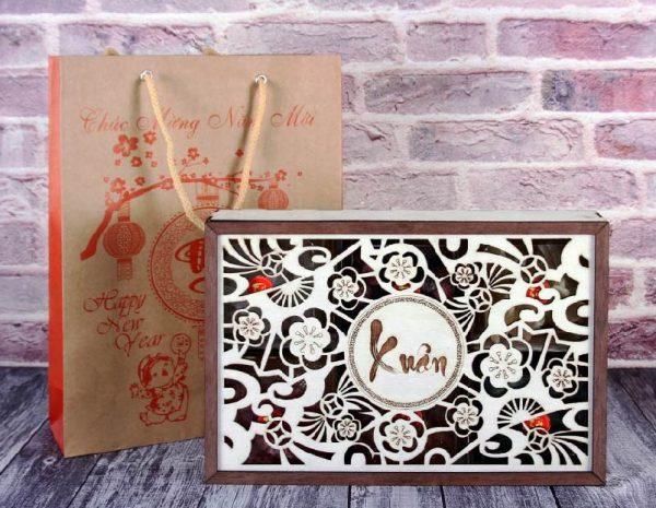 hộp đựng quà tết bằng gỗ