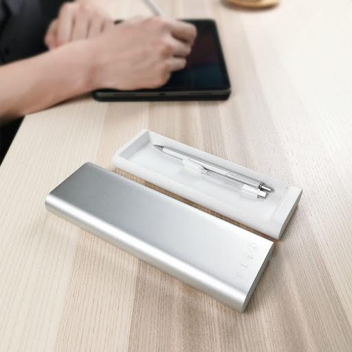 hộp bút kim loại di động