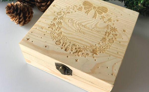 hộp quà giáng sinh bằng gỗ