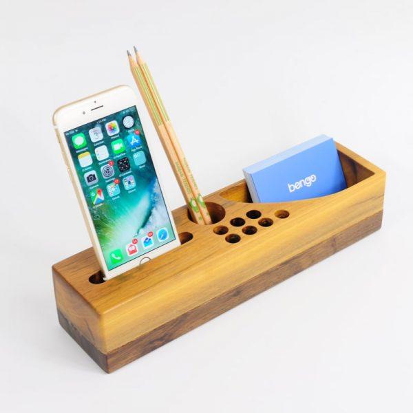 hộp đựng bút để bàn bằng gỗ