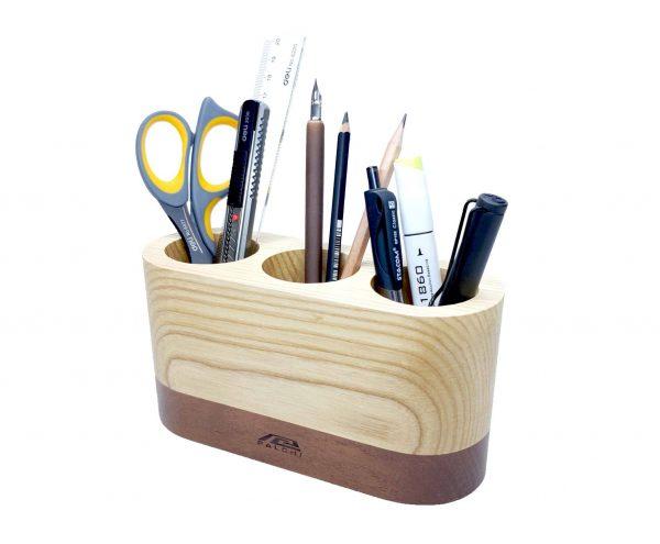 hộp đựng bút để bàn bằng gỗ 1