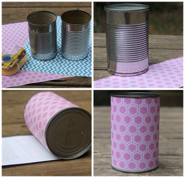 hộp đựng bút để bàn handmade bằng lon sữa l 1