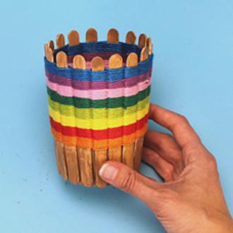hộp đựng bút để bàn handmade bằng que kem 6