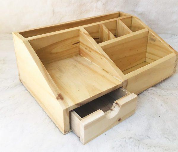 hộp đựng bút văn phòng bằng gỗ 2