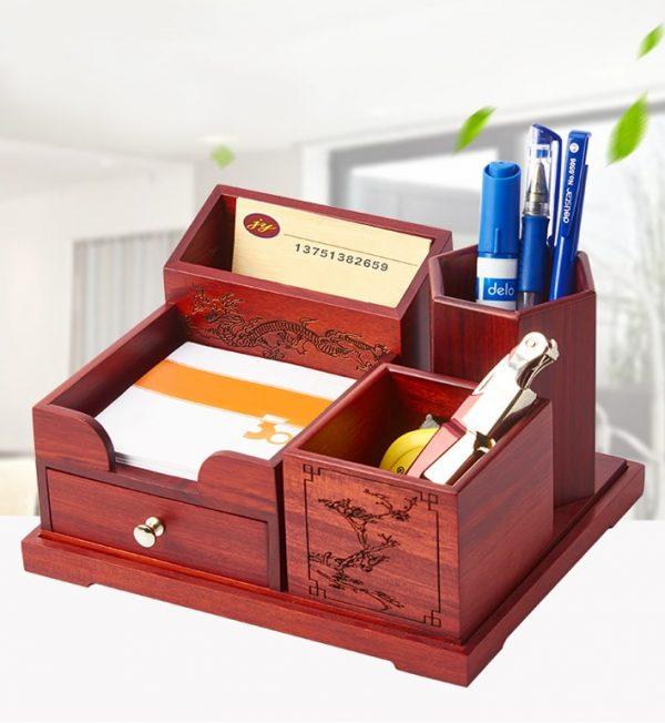 hộp gỗ để bàn cao cấp