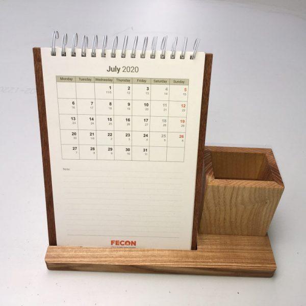 lịch bàn đế gỗ 16