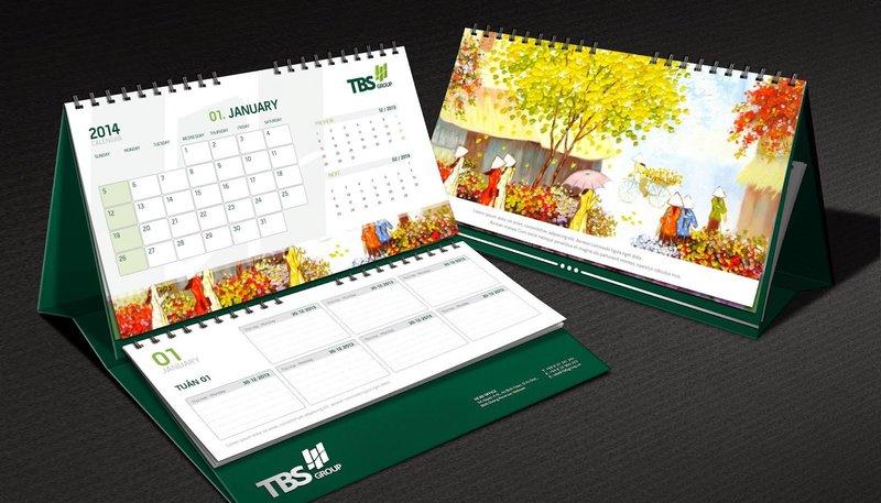 89+ mẫu lịch để bàn đẹp ngỡ ngàng xuân 2021