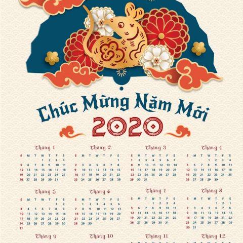 27+ mẫu lịch treo tường đẹp đi cùng năm tháng
