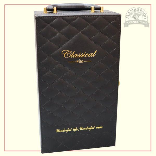 hộp quà da classical caro màu đen