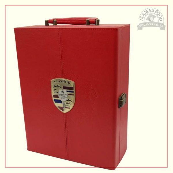 hộp quà da classical màu đỏ