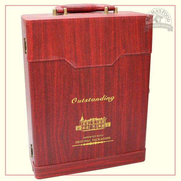 hộp quà da outstanding màu đỏ