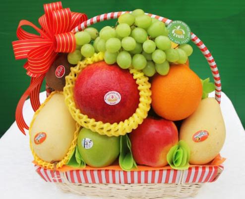Mẫu lẵng quà Tết trái cây