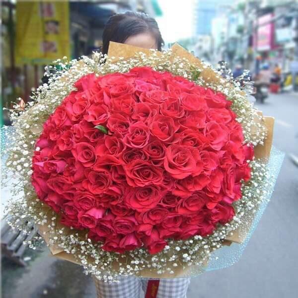 quà tặng noel hình hoa tươi