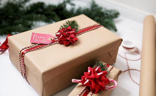 Mẫu hộp quà giáng sinh bằng giấy