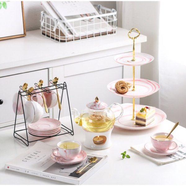 quà tặng gốm sứ set tách trà