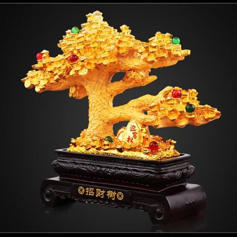 Tượng cây lộc dát vàng mang lại tài lộc, phú quý cho gia chủ khi sở hữu chúng.