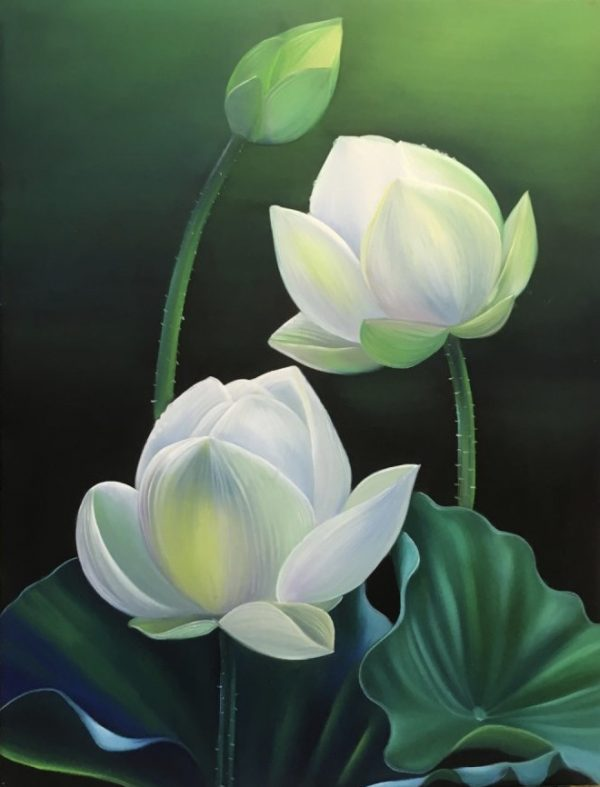 quà tết phong thuỷ tranh hoa sen