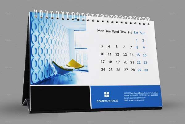 thiết kế lịch để bàn 5