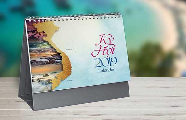 thiết kế lịch để bàn 6