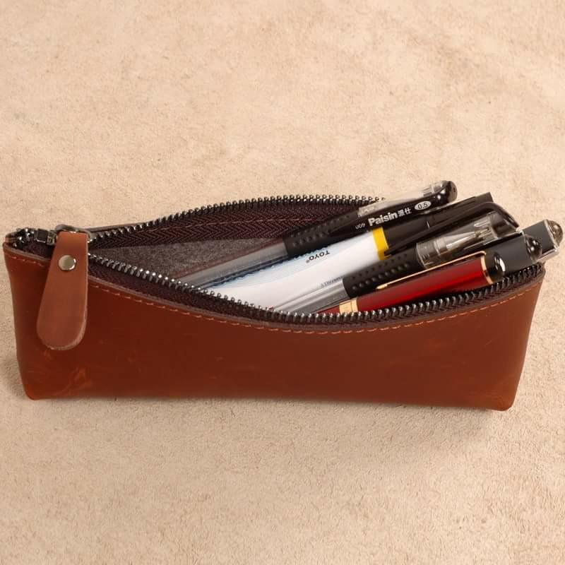 Túi da đựng bút – sự sang trọng từ chất liệu cao cấp